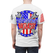 Load image into Gallery viewer, American Badass White Unisex Tee