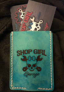 Shop Girl Garage Leather Minimalist Wallet