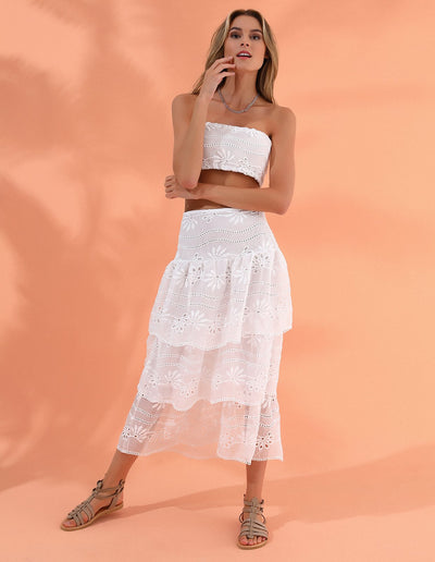 RUFFLE SET WHITE