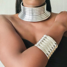 Load image into Gallery viewer, TANTA Statement African Choker & Bracelet Set