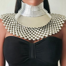 Load image into Gallery viewer, FAYOUM African Statement Maxi Beaded Choker Necklace