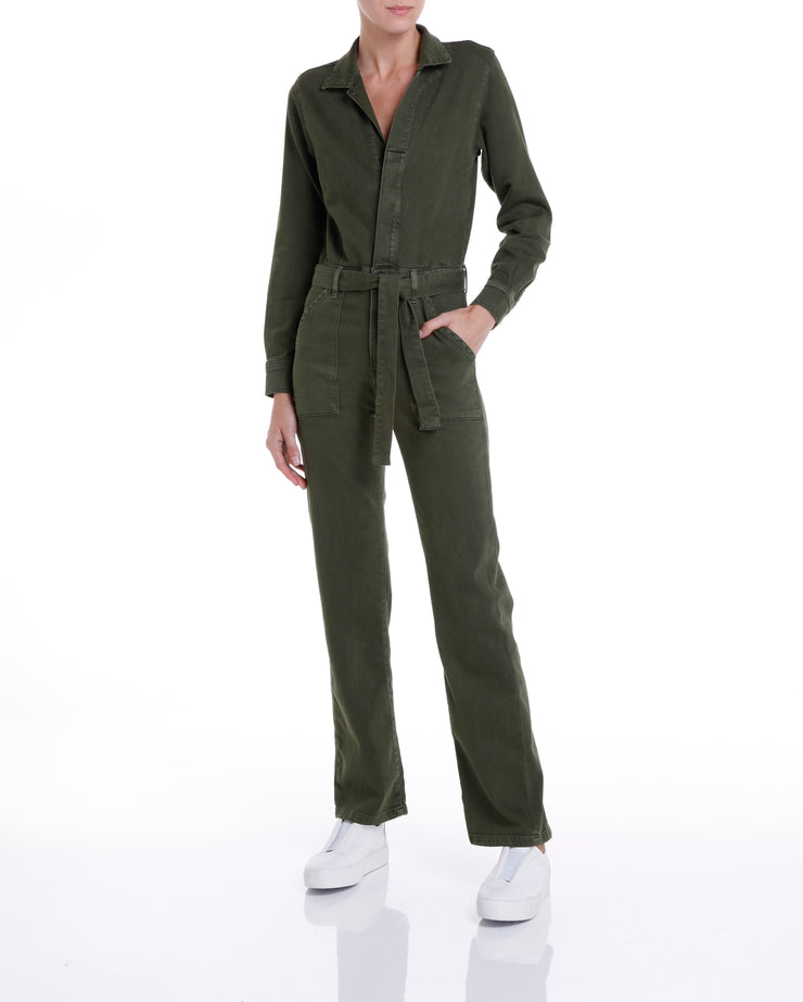W HOUSTON STRAIGHT JUMPSUIT - MILITARY GREEN