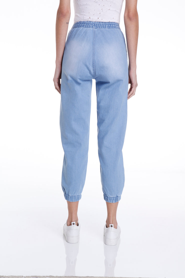 LEROY SEMI BAGGY PANTS - LIGHT DENIM - John John Lab
