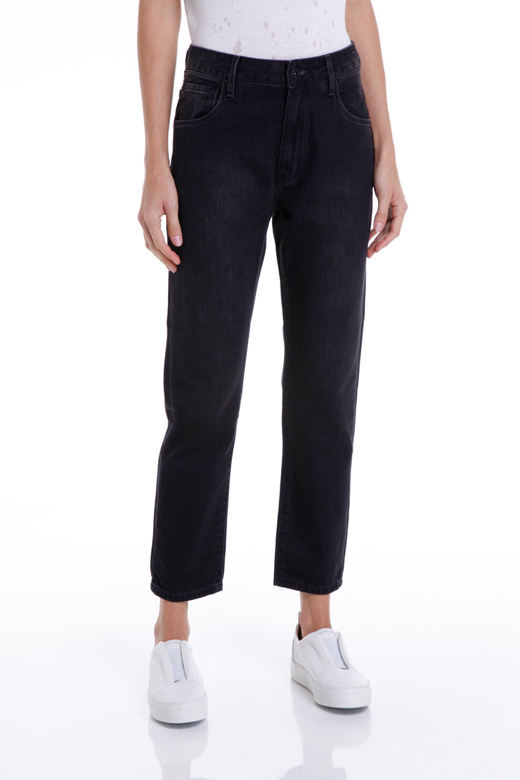 BOWERY BOYFRIEND PANTS - BLACK