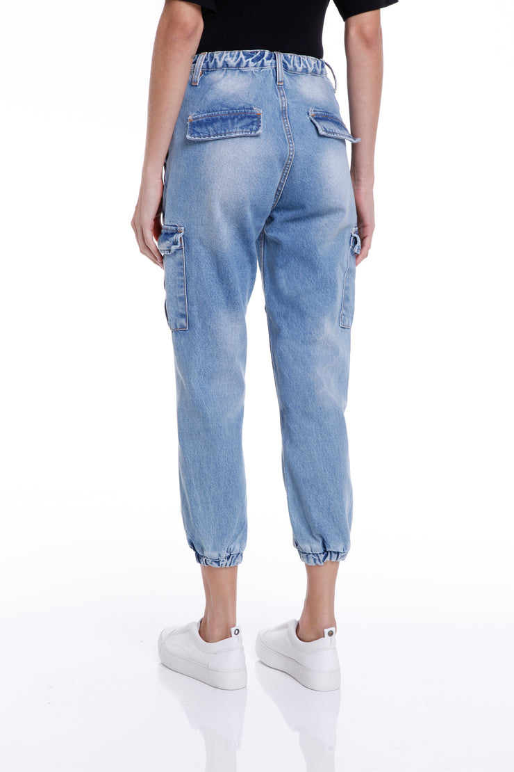 THOMPSON CARGO PANTS - LIGHT DENIM