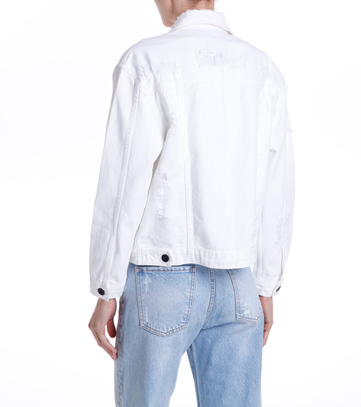 BARCLAY BOMBER JACKET - WHITE