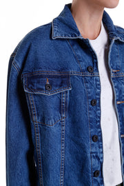 DUANE BOMBER JACKET - DARK DENIM