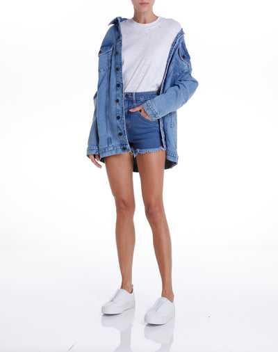 SANTON JACKET - MEDIUM DENIM