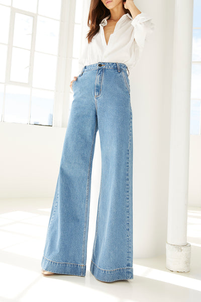 ORCHARD PANTALONA PANTS - LIGHT DENIM