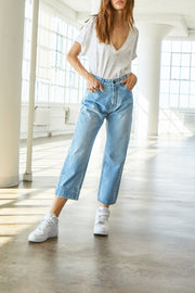 MOTT MOM PANTS - LIGHT DENIM