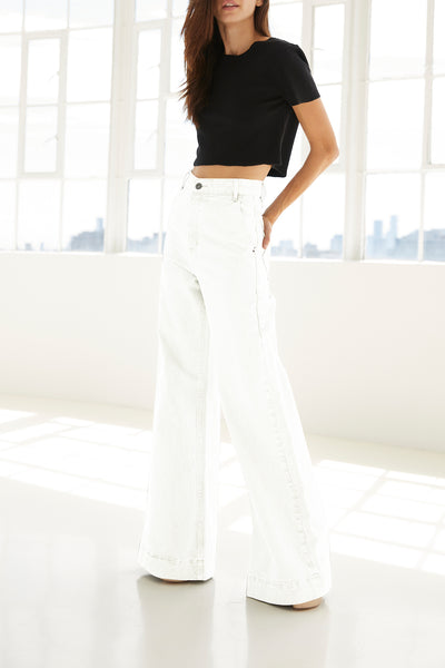 ORCHARD PANTALONA PANTS - WHITE