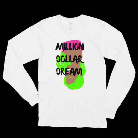 'MILLION DOLLAR DREAM' - Long sleeve t-shirt - White