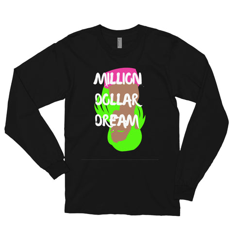 'MILLION DOLLAR DREAM' - Long sleeve t-shirt - Black