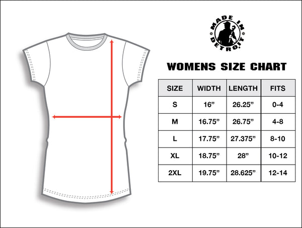 Women s size chart made in detroit