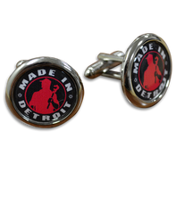 MID Red Cuff Links