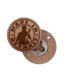 Wood Logo Bottle Opener Magnets