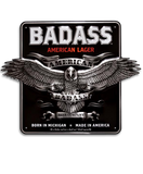 "12"" Metal Sign - Badass or MID"