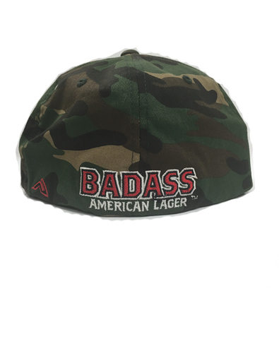 BADASS - Camo Fitted Hat w/ Badass on Back