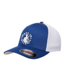 MID Flex Fit Two-Tone Meshback Cap - Black/White or Royal/White