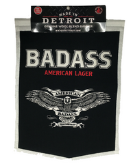 Badass Beer Wool Banner - Black w/ White