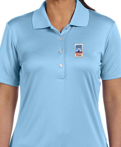 Grand Prix Light Blue Polo - Ladies