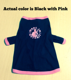 Doggie Tank Top - Black w/ Pink