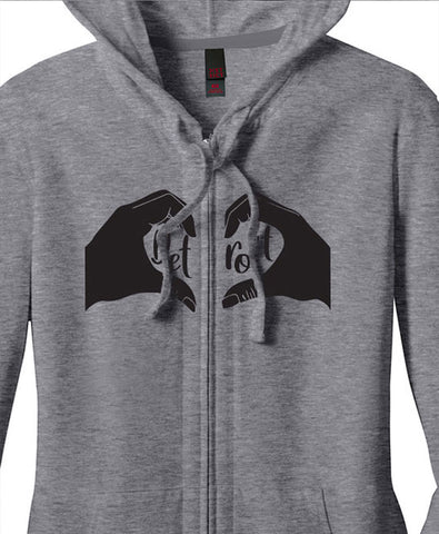 Lady's Heart Detroit Light Weight Zip Up