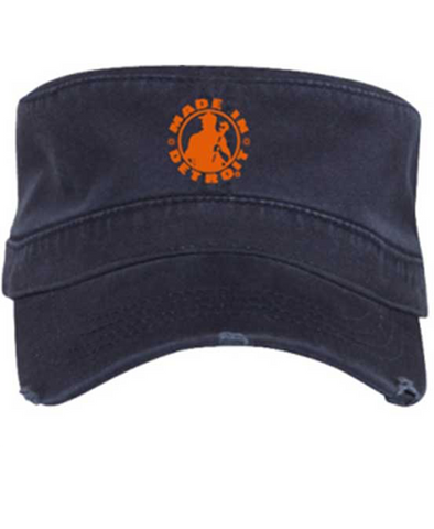 Fidel Cap - MID Navy w/ Orange