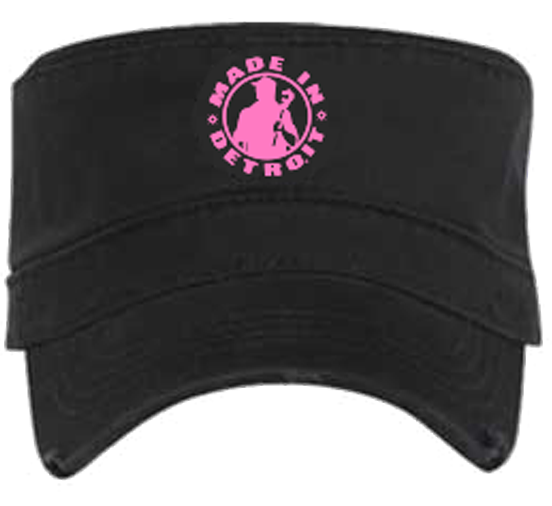 MID Fidel Cap - Black Cancer Ribbon w/ Pink
