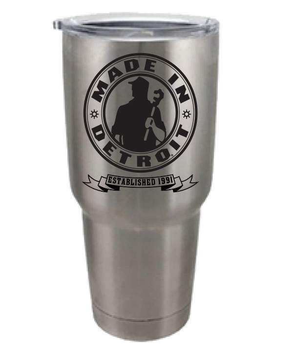 MID Circle Stainless Steel Lined 30oz Tumbler