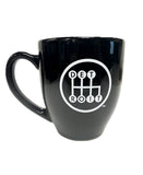 MID & Shifter Bistro Coffee Mug - Feather Spray Black to Gray
