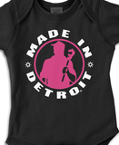 MID - Onesie - Black w/ Pink & White Cancer