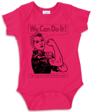 Rosie Cancer - Hot Pink Onesie w/ Black & Pink