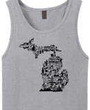 MID Collage Heather Grey Tank