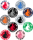 "MID 4"" Stickers - Various Colors"
