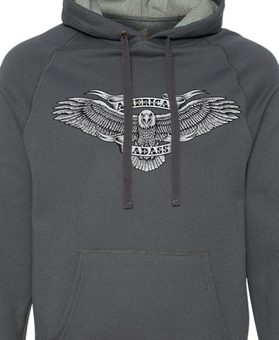 American Badass Eagle - Hoodie - Charcoal Heather