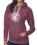 Tri-Blend Burgandy Fleece Pullover  - Made In Detroit
