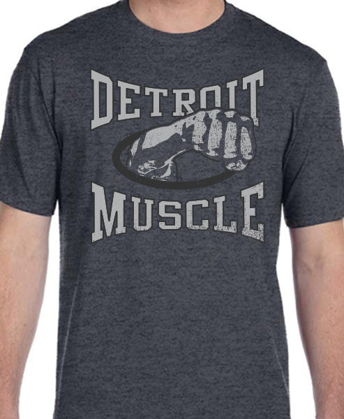 Muscle Fist Crew Tee - Dark Heather Gray