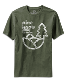 Pine Knob Music Theatre Print on Olive Green T-shirt