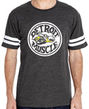 Super Bee  print on Smoke Football style T-shirt. Made In Detroit