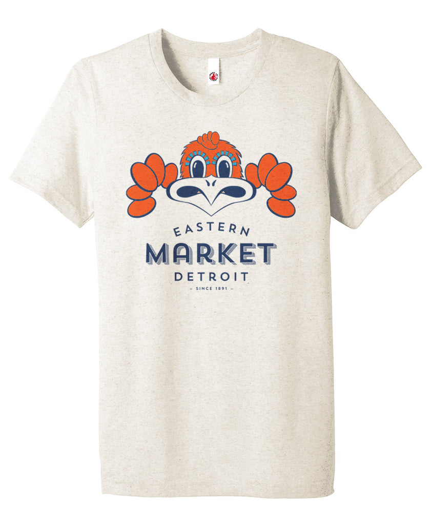 Eastern Market multi colored print on Oatmeal color tri-blend T-shirt