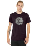 Detroit Shifter Oxblood Black Shirt w/ Grey print