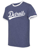 heather navy champion ringer detroit sports shirt muscle car vintage retro detroit t shirt
