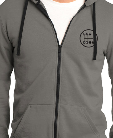 Grey Shifter Zip Up Hoodie