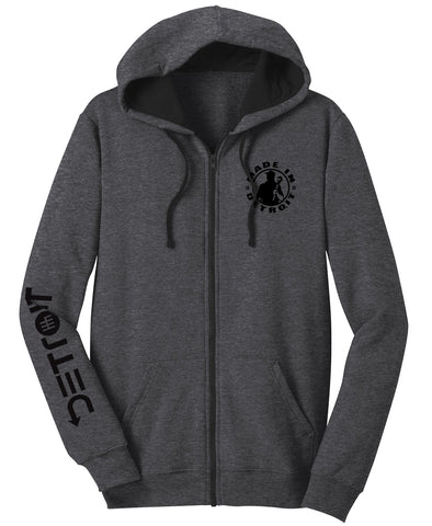 MID Zip Up Hoodie Detroit Arrow Sleeve