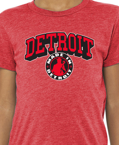 Made In Detroit - Youth Shirt - Tri Red - Arch Madness