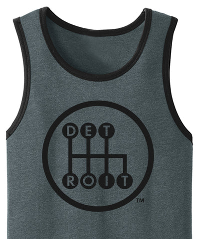 Shifter - Jersey Tank - Heather Deep Charcoal/Black