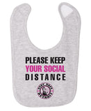 Social Distance Bib - Heather Grey