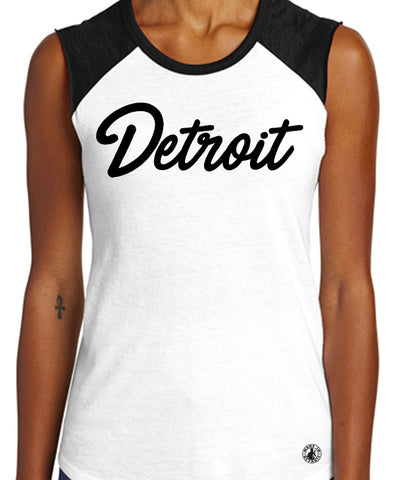 Detroit Script Sleeveless Tee