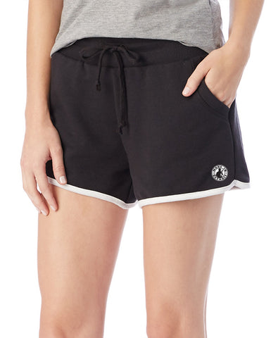 MID - Women's - Vintage French Terry Track Shorts - Black or Maroon